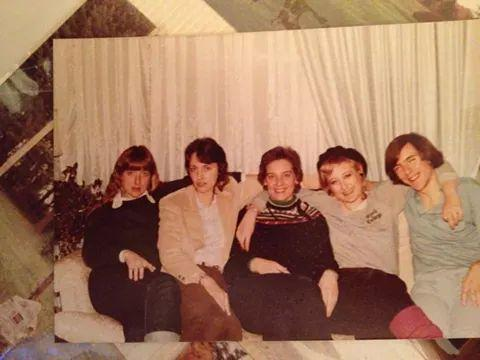 Family picture from 1985. I'm second from the right.