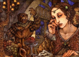 Beauty and the Beast is a popular recurring trope. Image via deviantArt.