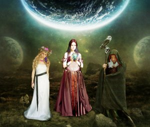 The Triple Goddess archetype, as depicted by archseer.