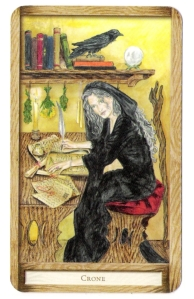 The Crone from the Well-Worn Path Tarot.