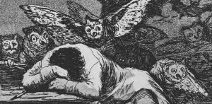 "Detail from ""The Sleep of Reason,"" Francisco Goya."
