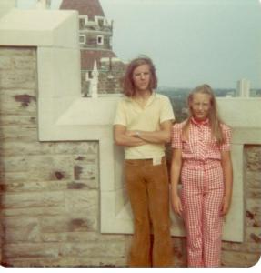 With my brother, somewhere in Europe, 1970